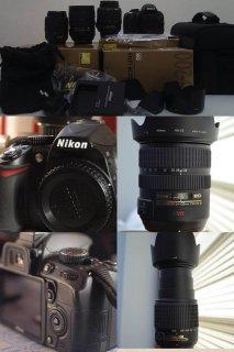 Nikon D3100 +3 Lens | كاميرا نيكون D3100 مع 3 عدسات و ملحقات اخر