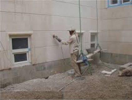 تكحيل الحجر وتنظيفه بالقذف الرملي و المائي