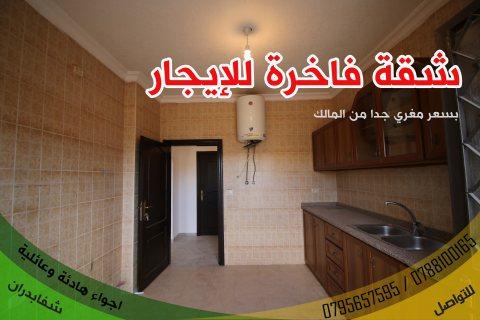 شقة لقطة للايجار بسعر لقطة في شفا بدران220  دينار فقط