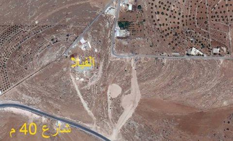 قطعة ارض في بيرين كاشفه عمان من شرقها الى غربها