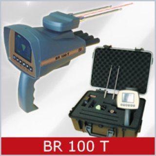 BR 100 T الأستشعاري الأفضل لكشف الذهب والكنوز والمعادن لعمق 20 متر , دائري 1000م