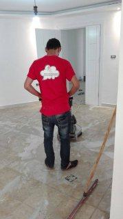 التنظيف الشامل بعد الدهان للمباني و جلي وتلميع البلاط