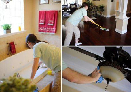 تنظيف للفلل والشقق والمكاتب ما بعد البناء و التشطيب و الدهان