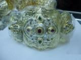 احزمة مغربية من الاحجار الكريمة والكريستالات دهبية وفضية